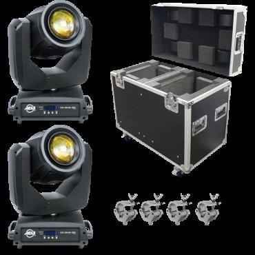 ADJ Vizi Beam 5RX Moving Heads & Road Case Package