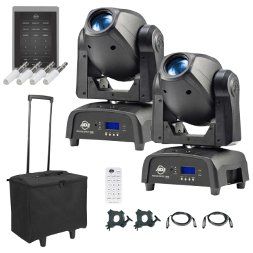 (2) American DJ Focus Spot One High Powered 35W LED Moving Heads with Motorized Focus Package