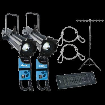 2x CHAUVET DJ EVE E-100Z + Controller + Cables + Stand