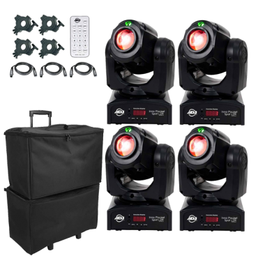ADJ Inno Pocket Spot LZR Hybrid Mini Moving Head & Laser Quad Package with Remote