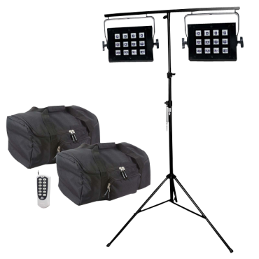 ADJ UV Flood 36 Duo Pack with Stands