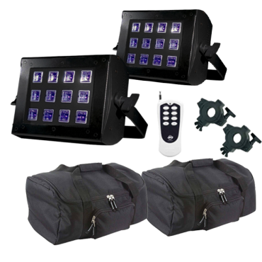 ADJ UV Flood 36 & Remote Duo Package