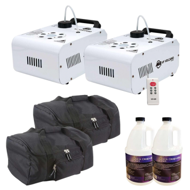 ADJ VF Volcano Vertical Fog Machine Duo Bundle