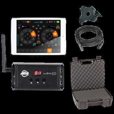 "American DJ myDMX Go Wireless Lighting Control App with Combat X 16"" Storage Case Package"