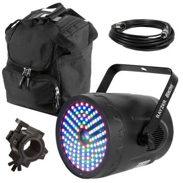 American DJ Rayzer Effect Laser & RGB 3-in-1 Wash Light with Carry Case Package