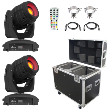 (2) Chauvet DJ Intimidator Spot 355 IRC Feature Packed Moving Heads & ProX Road Case Package