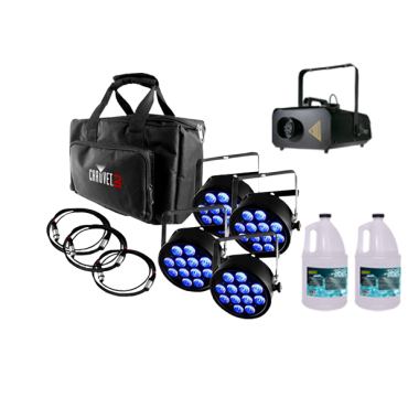 Chauvet DJ SlimPACK T12 USB + Fog Machine + 2x Fog Fluid Gallon