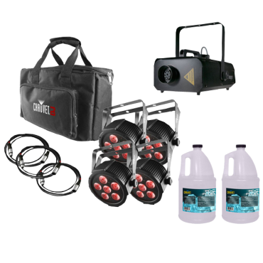 Chauvet SlimPACK Q6 USB + Fog Machine + 2x Fog Fluid Gallon
