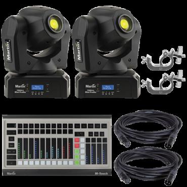Martin THRILL Mini Profile 2-Pack with DMX Controller