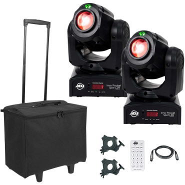 ADJ Inno Pocket Spot LZR Hybrid Mini Moving Head & Laser Duo Package with Remote