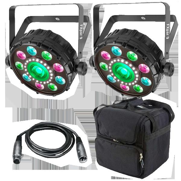 Chauvet DJ FXpar 9 Compact Multi Effect Par Lights Package  sc 1 st  123Blacklights.com & Chauvet DJ FX Par 9 Compact Multi effect Par Light   DJ Package ... azcodes.com