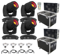 (4) Chauvet DJ Intimidator Spot 355 IRC Feature Packed Moving Heads & ProX Road Case Package