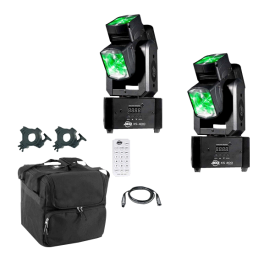 American DJ XS 400 Tri Lense Moving Heads Package