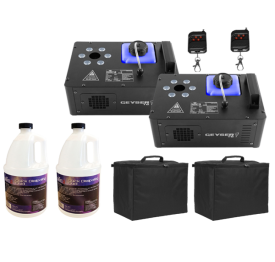 Chauvet DJ Geyser T6 with Fog Fluid and Carry Cases Two Pack