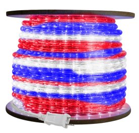 3/8 inch LED Red, White, Blue Rope Light