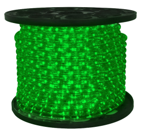 3/8 inch LED Green Rope Light