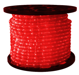 3/8 inch LED Red Rope Light