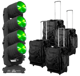 (4) Chauvet Intimidator Beam LED 350 & Cases Package