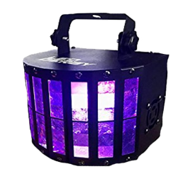 LED Derby DJ Light - Includes wireless remote control. 9x3W RGBW - Great for parties!