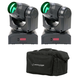 ADJ Pocket Beam Pak: 2x Inno Pocket Beam Q4 Mini Moving Heads with F4 Par Bag