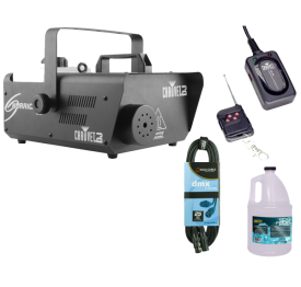 "Chauvet Hurricane 1600 + Wireless Remote + Fluid Gallon + DMX Cable ""Warehouse Resealed"""