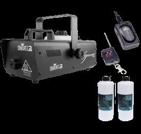 "Chauvet H1400 Hurricane 1400 + FC-W Wireless Remote + 2x Fog Fluid Quart ""Warehouse Resealed"""