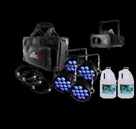 Chauvet DJ SlimPACK T12 USB + Fog Machine + 2x Fog Fluid Gallon