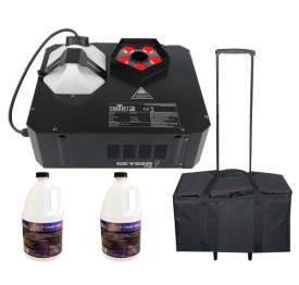 Chauvet DJ Geyser P5 with Quick Dissipating Fog Fluid and Rolly Carry Case Package