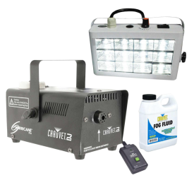 Chauvet DJ Hurricane 700 Fog Machine & White LED Strobe Light Package