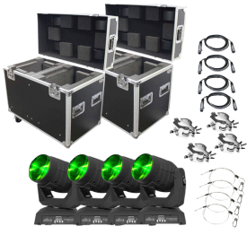 Chauvet DJ Intimidator Beam LED 350 & Road Case Quad Bundle