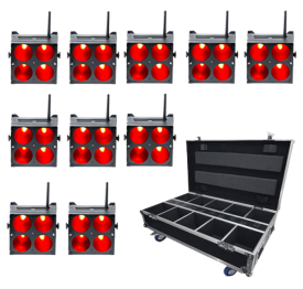 ColorKey MobilePar QUAD 4 10-Pack with Free Road Case