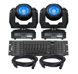 Eliminator Stealth Beam LED Moving Head 2-Pack Lighting System