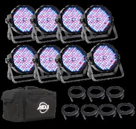 American DJ Mega Flat Pak 8 Uplighting System