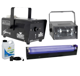 Halloween Blacklight Strobe & Fog Machine Package
