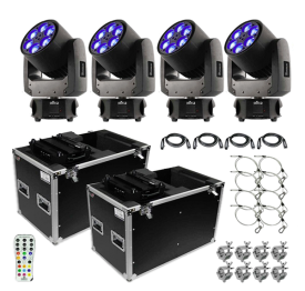 Chauvet DJ Intimidator Trio Moving Head Quad Package