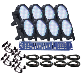 American DJ Mega Par Profile Eight Pack Uplighting System
