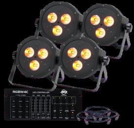 American DJ Mega QA PAR38 Mobile Pack Uplighting System