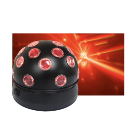 Party Ball RGBW Rotating Quad LED Disco ball Effect Adkins Professional Lighting
