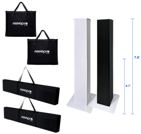 Novopro PS1 XXL Adjustable Podium Stands Duo Package