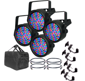 Chauvet SlimPar 38 Pack with Cables, Clamps and Bag