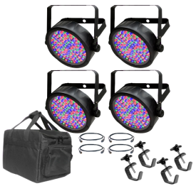Chauvet SlimPar 56 Mobile Pack with Cables, Clamps and Bag