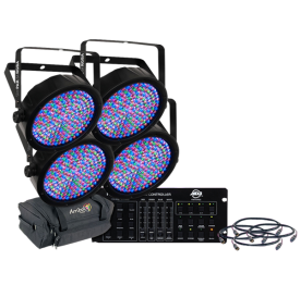 Chauvet SlimPar 64 Complete Uplight LED Par Can System with Controller, Cables and Bag
