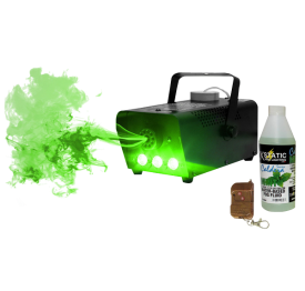 Technical Pro 500 Watt LED Fog Machine Packaged with XStatic Mint Scented Water-Based Fog Juice (1 Liter)