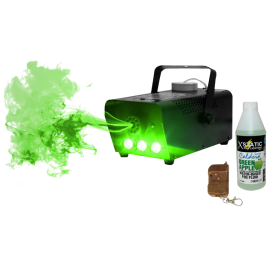 Technical Pro 500 Watt LED Fog Machine with Wireless Remote and Green Apple Scented Fog Juice Package